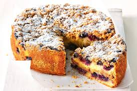 Blueberry crumble w Cheese layer cake