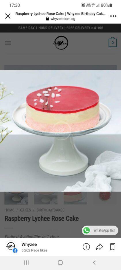 Raspberry Lychee Rose Cake